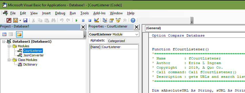 Part 2a: Using VBA with JSON: Courtlistener – Do More With Less